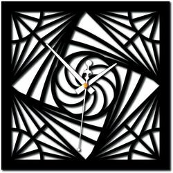 Stylesa - Nowoczesny pleksiglasowy zegar ścienny w mozaice i czarny X0082