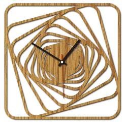 Sentop - MDF Nowoczesny zegar ścienny GARVI HD F015 i czarny