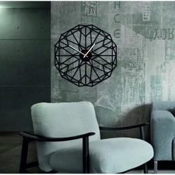 SENTOP - Zegar ścienny z geometrycznej pleksi TOMARR i czarnej X009793