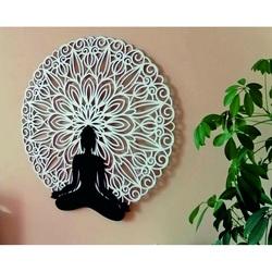 Sentop - Mandala obraz 3D na ścianie kolorowej mandali Buddy