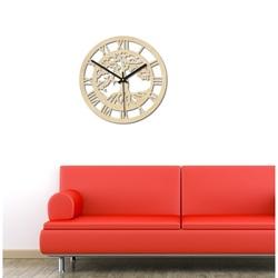 Sentop - Drewniany zegar, drzewo życia, rzymskie figury
