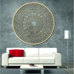 Rzeźbiona drewniana mandala na ścianie - Pasja
