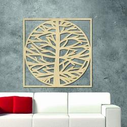 Sentop - Obrazek na ścianie drzewa w ramce drewnia  MRLVEN A