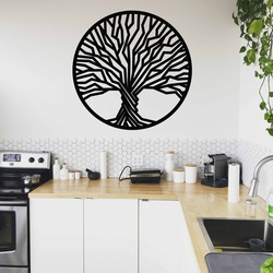 Stylesa - Drewniany obraz na ścianie drzewa