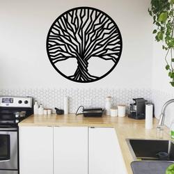 Stylesa - fa festmény egy fa falán