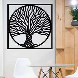 Sentop - Drewniany obraz na ścianie drzewa w ramce
