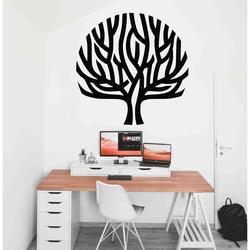 Stylesa - Nowoczesne drewniane malowidło na ścianie z wiatrem w gałęziach