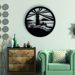 Sentop - Latarnia morska nowoczesny obraz na ścianie - dekoracja drewniana
