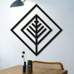 Nowoczesny obraz na ścianę - drewniana dekoracja kwadrat ATALY | SENTOP