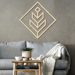 Nowoczesny obraz na ścianę - drewniana dekoracja kwadrat DALYO | SENTOP