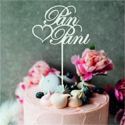"""Plastikowa wnęka - dekoracja ciasta """"Pan i Pani"""" - Rozmiar 150 x 222 mm"""