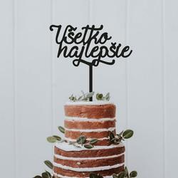 """Plastikowy rowek na ciasto """"Wszystkiego najlepszego"""" - Wymiary 138 x 180 mm"""