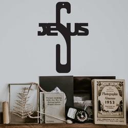 Dekoracja drewnianego krzyża - Jezus, wymiary - 250 x 180 mm