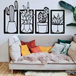 Stylowe czteroczęściowe malowanie ścian - CACTACEAE | SENTOP