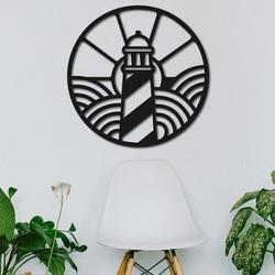 Drewniany obraz na ścianie latarni morskiej na plaży - FEDRO | SENTOP