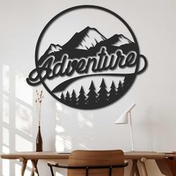 Drewniany obraz na ścianie z naturalnym motywem - ADVENTURE | SENTOP