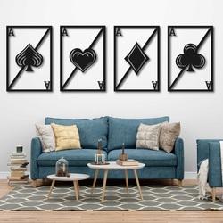 Original wood set wall art - PLAYING CARDS | SENTOP