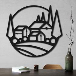 Drewniany obraz na ścianie domów - MOLDE | SENTOP