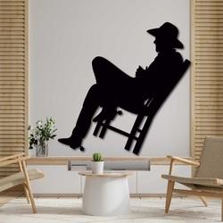 Elegancki drewniany obrazek na ścianę - KOWBOJ | SENTOP