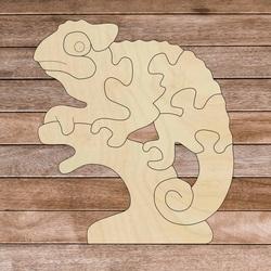 Drewniana wkładka montessori dla dzieci - KAMELEON   SENTOP