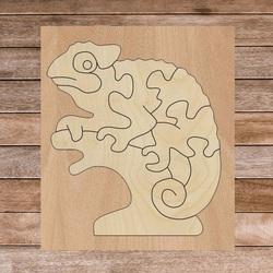Dwukolorowa drewniana wkładka montessori dla dzieci - KAMELEON TOPOLA   SENTOP
