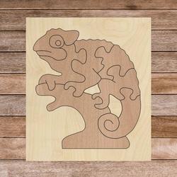 Dwukolorowa drewniana wkładka montessori dla dzieci - KAMELEON BUK   SENTOP