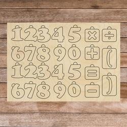 Drewniana pomoc sensoryczna Montessori - Matematyka   SENTOP H017 Topola