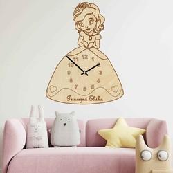 Drewniany zegar dziecięcy - Księżniczka z imieniem   SENTOP PR0440