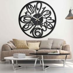 Drewniany zegar ścienny - Cyfry - naturalny, czarny i kolorowy | SENTOP PR0444