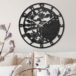 Drewniany zegar - piękna natura - czarny i naturalny | SENTOP PR0446