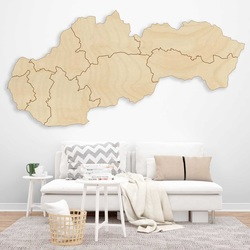 Drewniana mapa ścienna Slovakia - 8 sztuk   SENTOP
