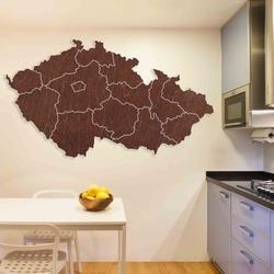Drewniana mapa ścienna Czechy - 14 sztuk | SENTOP