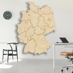 Drewniana mapa ścienna Niemcy - 16 sztuk | SENTOP