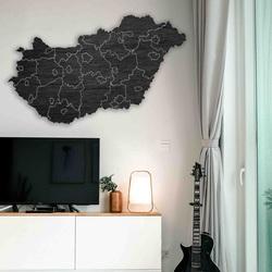 Drewniana mapa ścienna Węgry - 40 sztuk | SENTOP