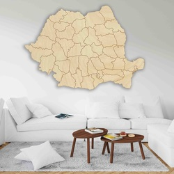 Drewniana mapa na ścianę Rumunia - 42 szt. | SENTOP