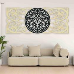 Artystyczna obraz na ścianie wykonany ze sklejki, tylna część Oryginał topoli, wybrany kolor z przodu
