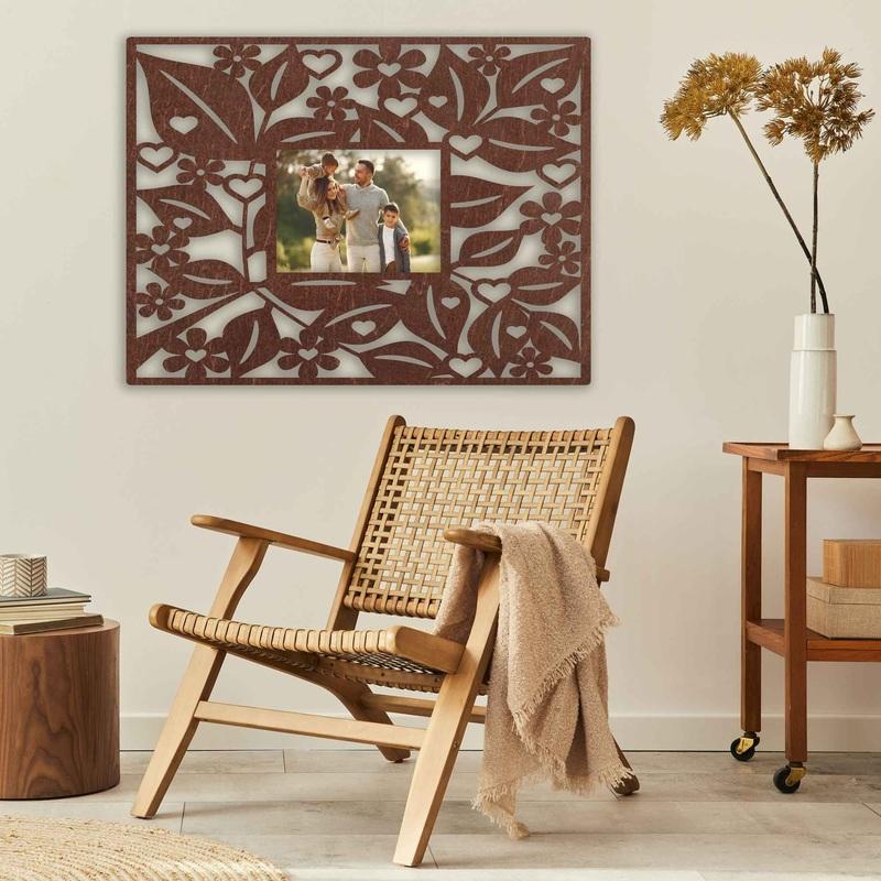 Drewniana ramka na zdjęcia na ścianę - prostokąt - do 60 x 80 cm