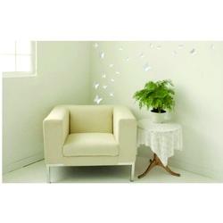 3D Naklejki na ścianę - Biały motyl, 1balenie zawiera 12 sztuk