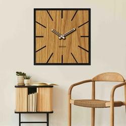 Duży zegar ścienny HDF Dąb do 50 x 50 cm