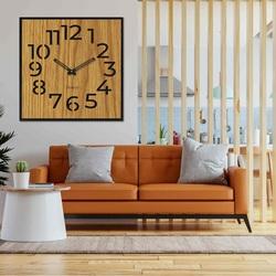 Drewniany zegar ścienny - Sentop | HDFK024 | dąb