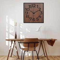 Drewniany zegar ścienny - Sentop | HDFK024 | orzech wenge