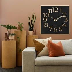 Drewniany zegar ścienny - Sentop | HDFK024 | klon
