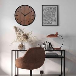 Drewniany zegar ścienny - Sentop   HDFK026   orzech wenge