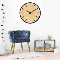 Drewniany zegar ścienny - Sentop | HDFK026 | klon