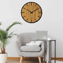 Drewniany zegar ścienny - Sentop | HDFK026 | dąb