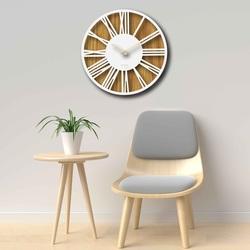 Zegar ścienny drewniany z rzymskimi cyframi dąb