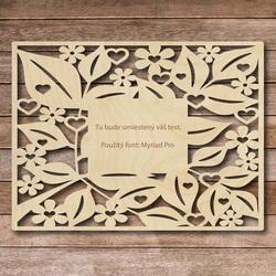 Drewniany stół z własnym tekstem - do 60 x 80 cm