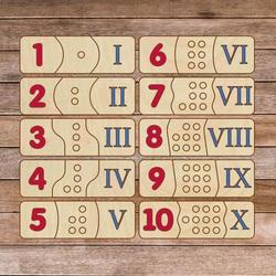 Puzzle drewniane dla dzieci - cyfry rzymskie 30 sztuk | SENTOP H003