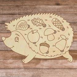 Drewniane puzzle dla dzieci - Jeż w lesie - 7 sztuk   SENTOP H008