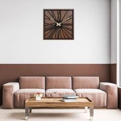 Dřevěné hodiny na zeď - Sentop | HDFK031 | ořech wenge